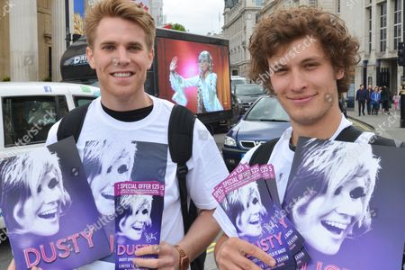 Promoting the new Dusty Springfield musical, with a van showing footage driving around Trafalgar Square and people handing out leaflets