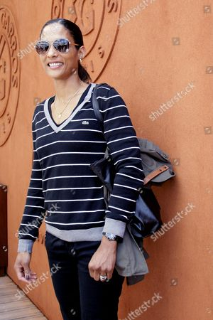 Stock Image of Christine Arron poses at the village during the Roland Garros 2015 French Tennis Open