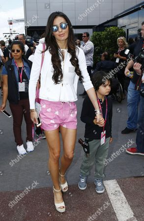 Stock Photo of Elisabetta Gregoraci and her son Falco Nathan Briatore