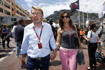 Mika Hakkinen (FIN) and his girlfriend Marketa Kromatova