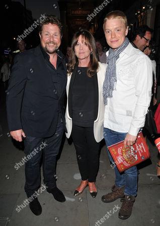Michael Ball, Cathy McGowan and Freddie Fox