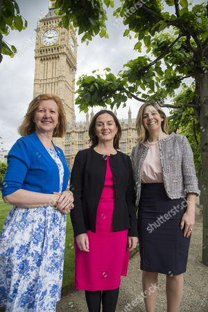 Victoria Borwick MP for Kensington (left), Lucy Allen MP for Telford (right) and Andrea Jenkyns MP for Morley and Outwood (centre)