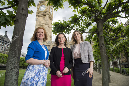 Stock Picture of Victoria Borwick MP for Kensington (left), Lucy Allen MP for Telford (centre) and Andrea Jenkyns MP for Morley and Outwood (right)