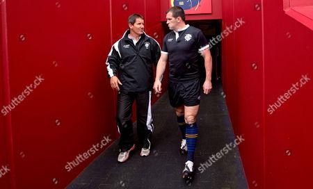 Barbarians head coach Robbie Deans and Shane Jennings