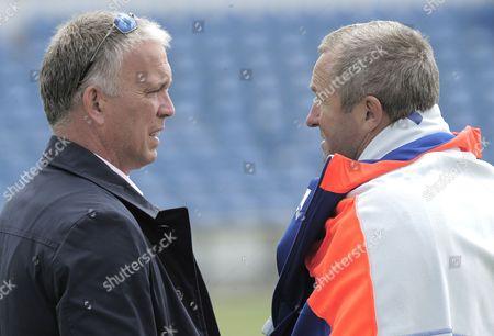 England Coach Paul Farbrace talks with selector James Whitaker