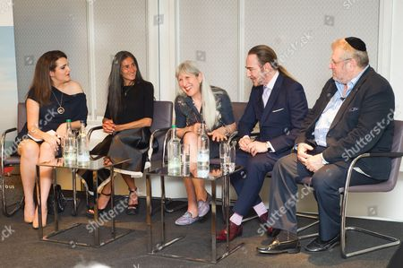 Sandy Rashy, Ronit Zilkha, Caroline Burstein, John Galliano and Rabbi Barry Marcus MBE
