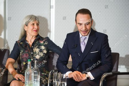 Caroline Burstein with John Galliano