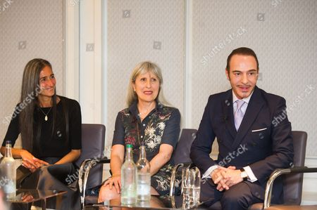Ronit Zilkha, Caroline Burstein, and John Galliano