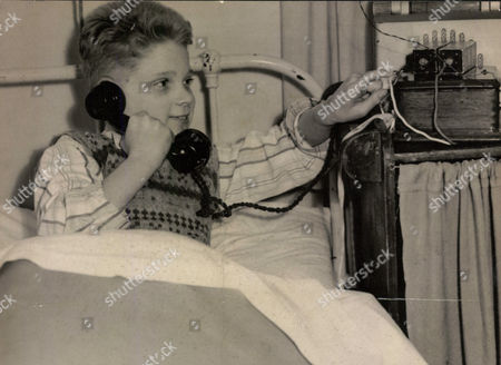 Eric Lander 11-year-old In Quarantine With Chicken Pox Knew That He Had No Hope Of Seeing The Princess Royal On Her Visit To His School Today. But A Couple Of Mechanically Minded Friends Rigged Up A Field Telephone Between His Sickroom And The School's Workroom. Box 0565 190515 00308a.jpg.
