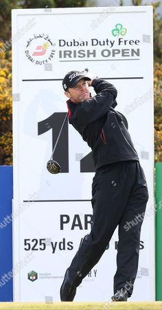 Michael Hoey on the 12th tee box