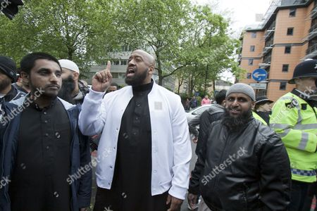 Editorial picture of Radical preachers outside the London Central Mosque, London, Britain - 29 May 2015