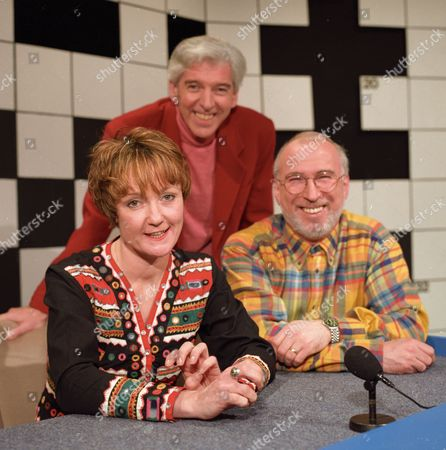 Tom O'Connor with Janice Long and Ken Bruce
