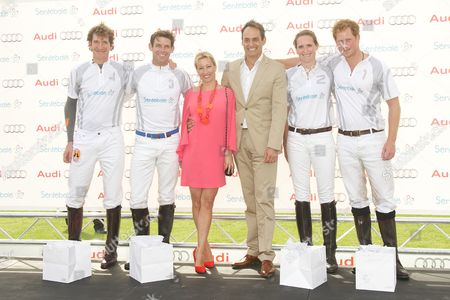 Luke Tomlinson, Malcolm Borwick, Christine Seig, Andre Konsbruck, Nina Clarkin and Prince Harry.