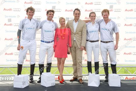 Luke Tomlinson, Malcom Borwick, Christine Seig, Andre Konsbruck, Nina Clarkin and Prince Harry