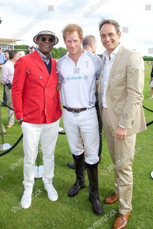 Samuel L. Jackson, Prince Harry and Andre Konsbruck