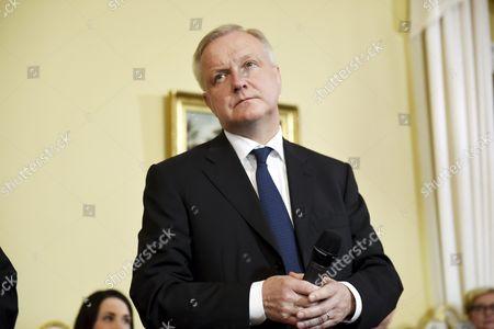 Stock Photo of Minister of Economic Affairs Olli Rehn