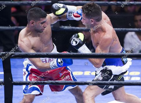 Chris Algieri versus Amir Khan - Khan won unanimously on points in their welterweight bout in New York for his fifth consecutive win