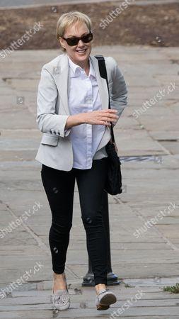 Stock Photo of Sally Dynevor arriving