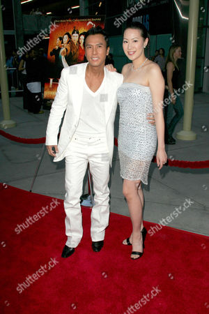 Donnie Yen and wife Cissy Wang Ci Ci