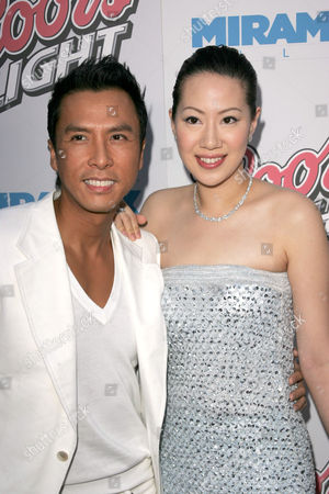 Donnie Yen and wife Cecilia