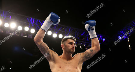Nathan Cleverly after wining his fight against Tomas Man in 1st round for the Light-Heavyweight Contest