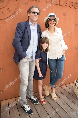 Stephane Freiss, wife Ursula and daughter Bianca