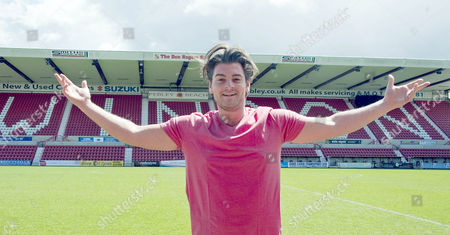 Matt Lapinskas during the kick about at Swindon's County Ground