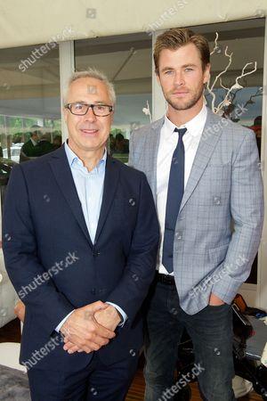 Jon Zammett and Chris Hemsworth