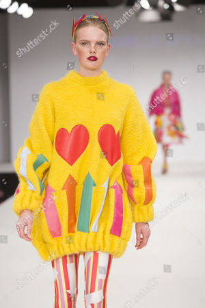 Stock Photo of Model on the catwalk wearing the collection of graduate student Danielle Spencer