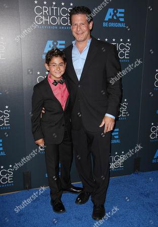 Stock Photo of Blake Garrett Rosenthal and father