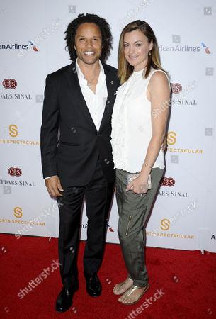 Cobi Jones and wife Kim Reese