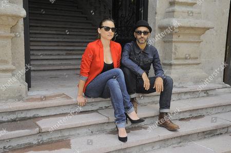 Leonor Watling and Alejandro Pelayo integrants of Spanish Band Leonor Watling attend 'El Porvenir' Album Launch Photocall at Universal Music in Mexico City, Mexico.