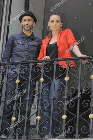 Stock Photo of Leonor Watling and Alejandro Pelayo integrants of Spanish Band Leonor Watling attend 'El Porvenir' Album Launch Photocall at Universal Music in Mexico City, Mexico.