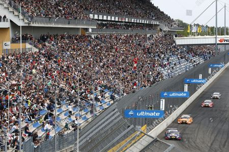 Motorsports: DTM race Lausitzring, #5 Mattias Ekstroem (SWE, Audi Sport Team Abt Sportsline, Audi RS 5 DTM) #53 Jamie Green (GBR, Audi Sport Team Rosberg, Audi RS 5 DTM)