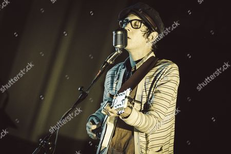 The american singer Micah P. Hinson performs at the Evangelic Methodist Church in Rome, Italy.