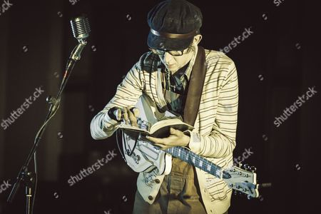 Stock Picture of The american singer Micah P. Hinson performs at the Evangelic Methodist Church in Rome, Italy.