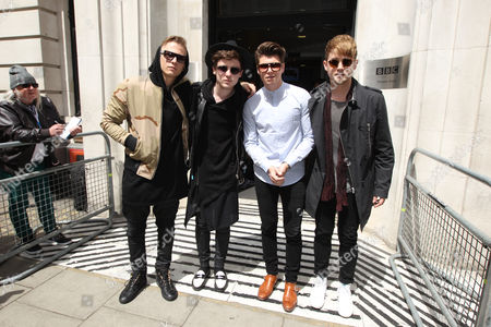 Rixton - Lewi Morgan, Jake Roche, Charley Bagnall and Danny Wilkin at the BBC