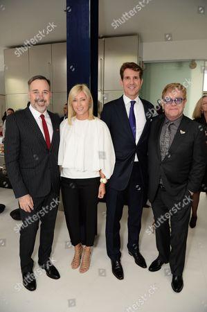 David Furnish, Crown Princess Marie-Chantal of Greece, Crown Prince Pavlos of Greece and Sir Elton John