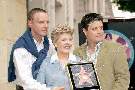 Patty Duke with her sons, Mackenzie and Sean Astin