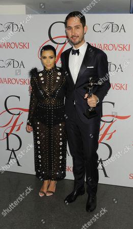 Kim Kardashian West and Kevin Systrom