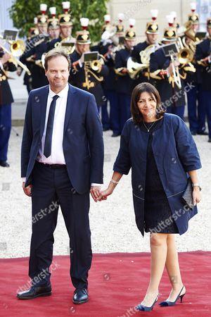 Stock Image of Jean-Marc Germain and Anne Hidalgo