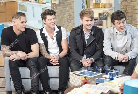 Stock Photo of Rixton - Jake Roche, Danny Wilkin, Charley Bagnall and Lewi Morgan.