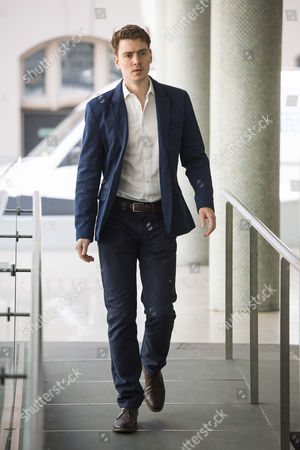Stock Picture of Euan Blair, son of former British prime minister Tony Blair, arriving at Progress Annual Conference held at TUC Congress House in London to discuss the labour leadership race following a heavy defeat in the recent general election