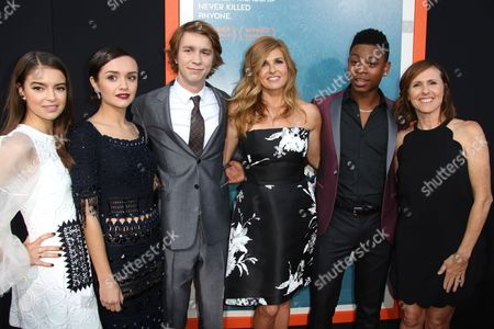 Katherine Hughes, Olivia Cooke, Thomas Mann, Connie Britton, RJ Cyler and Molly Shannon