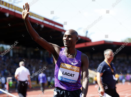 Bernard LAGAT (USA) after the Men's 1500M