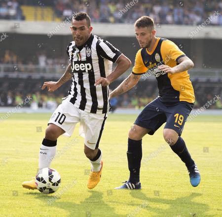 Carlos Tevez (Juventus), Leandro Greco (Hellas)