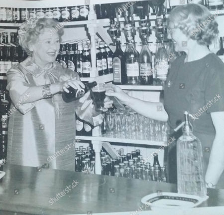 Stock Image of Annie Mackie with Doris Speed in the Garlogie Bar
