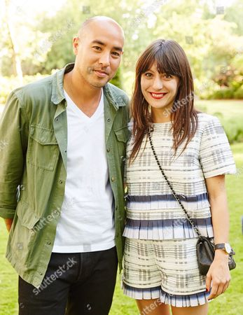 Max Osterweis and Katherine Ormerod attend the Suno Summer Picnic in Eaton Square on Thursday 4th June