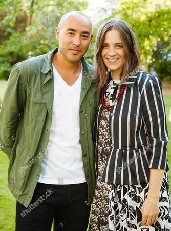 Max Osterweis and Erin Beatty attend the Suno Summer Picnic in Eaton Square on Thursday 4th June