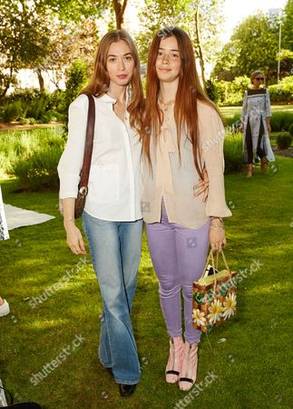 Anouska Beckwith and Flo Morrissey attend the Suno Summer Picnic in Eaton Square on Thursday 4th June